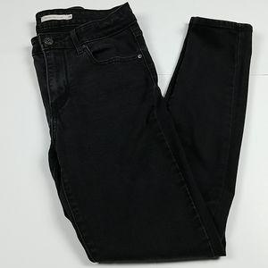 Levi's high rise skinny 721 black jeans size 28
